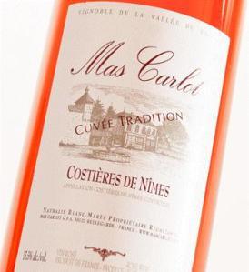 Mas Carlot Costières de Nîmes 2014 Rosé