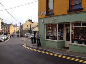 Lunch in Athlone on our way to Dublin. An organic cafe, just delish soup and pita. Check out the road, it's 2-way.